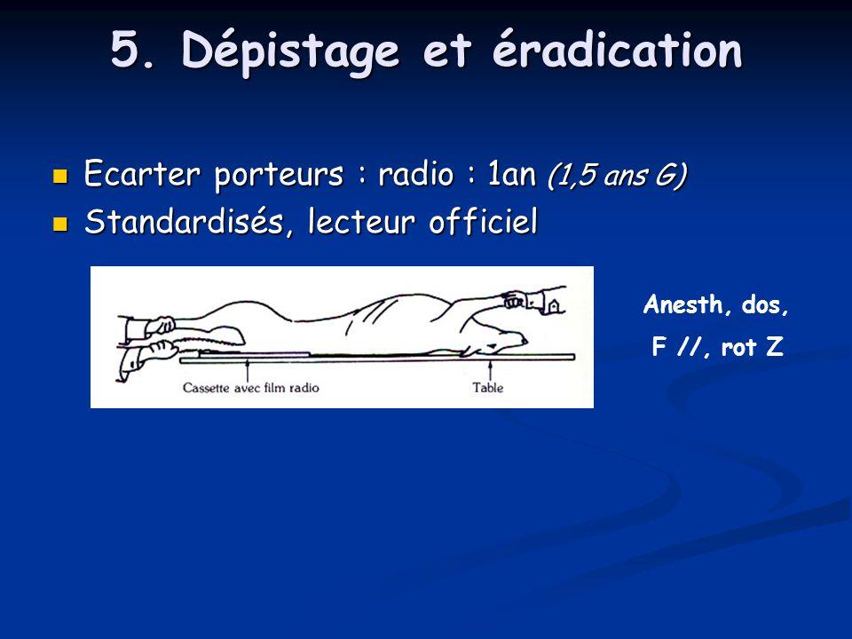 5. Dépistage et éradication