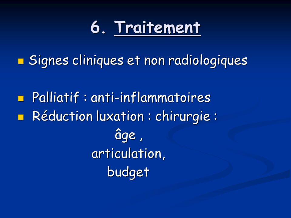 6. Traitement Signes cliniques et non radiologiques
