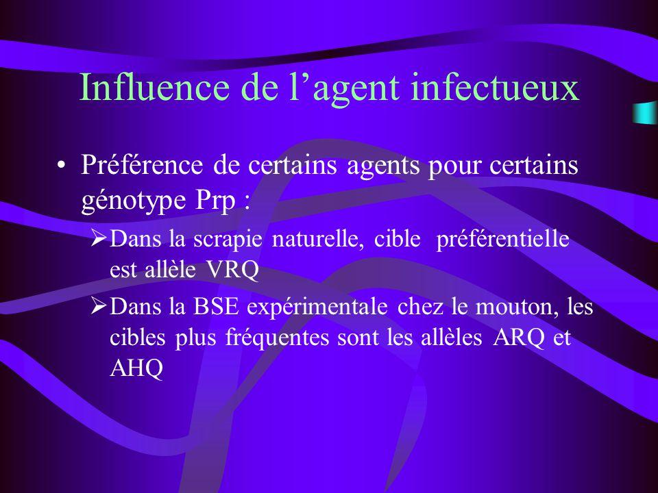 Influence de l'agent infectueux