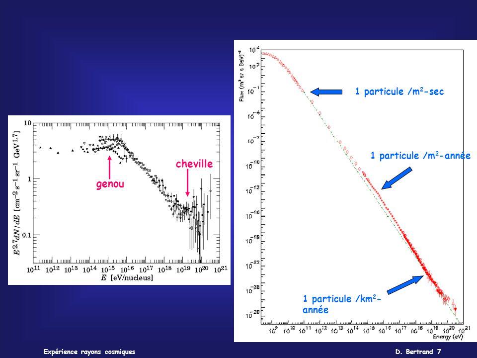 cheville genou 1 particule /m2-sec 1 particule /m2-année