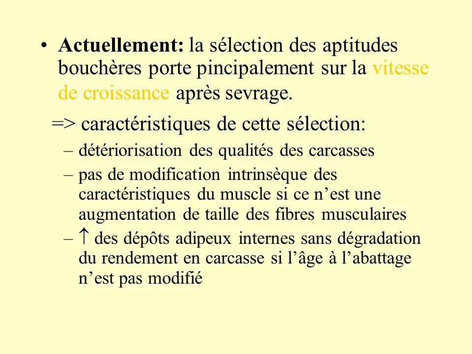 => caractéristiques de cette sélection: