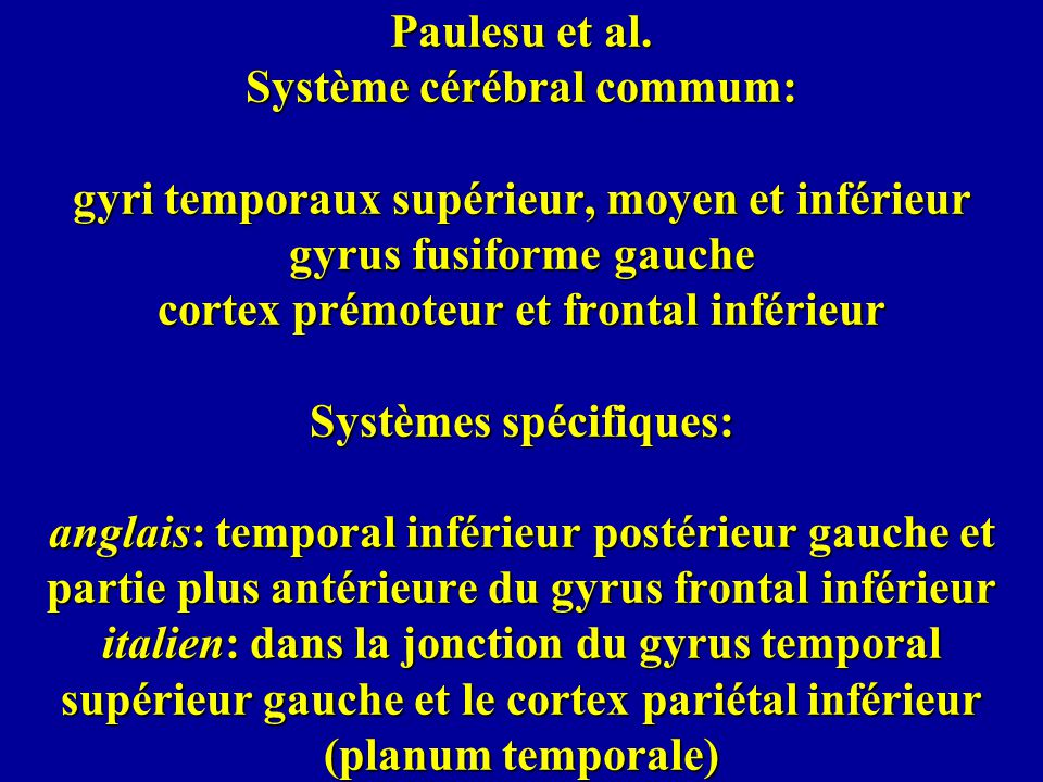 Paulesu et al.