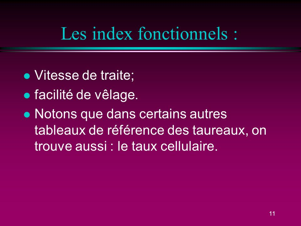 Les index fonctionnels :