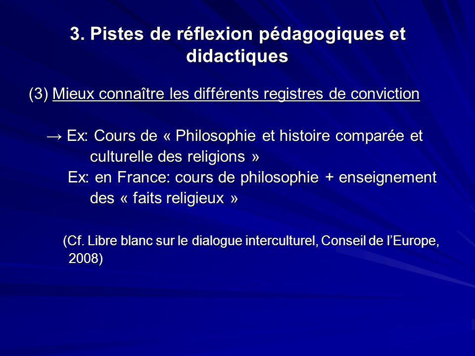 3. Pistes de réflexion pédagogiques et didactiques