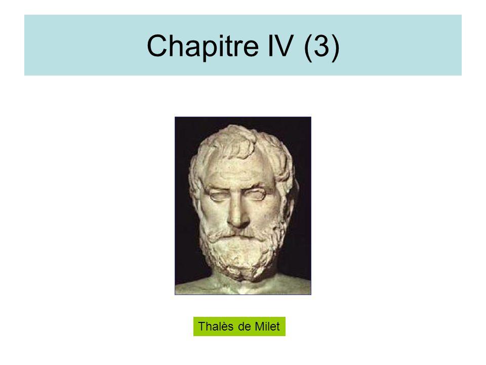 Chapitre IV (3) Thalès de Milet