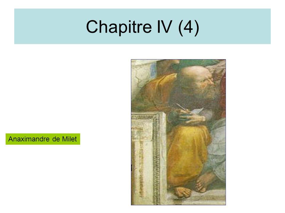 Chapitre IV (4) Anaximandre de Milet