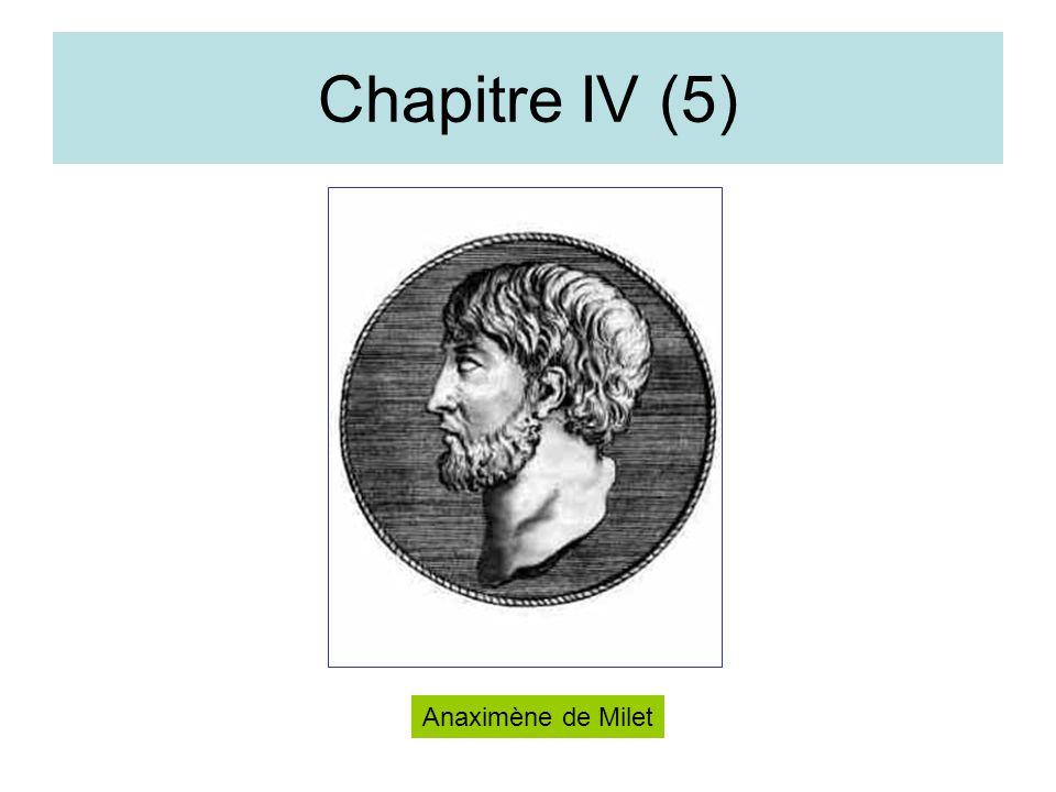 Chapitre IV (5) Anaximène de Milet