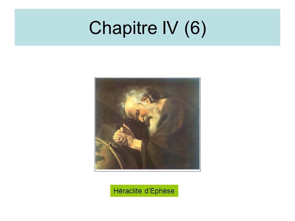 Chapitre IV (6) Héraclite d'Ephèse