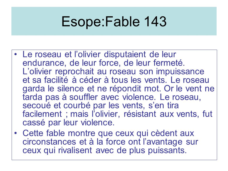 Esope:Fable 143