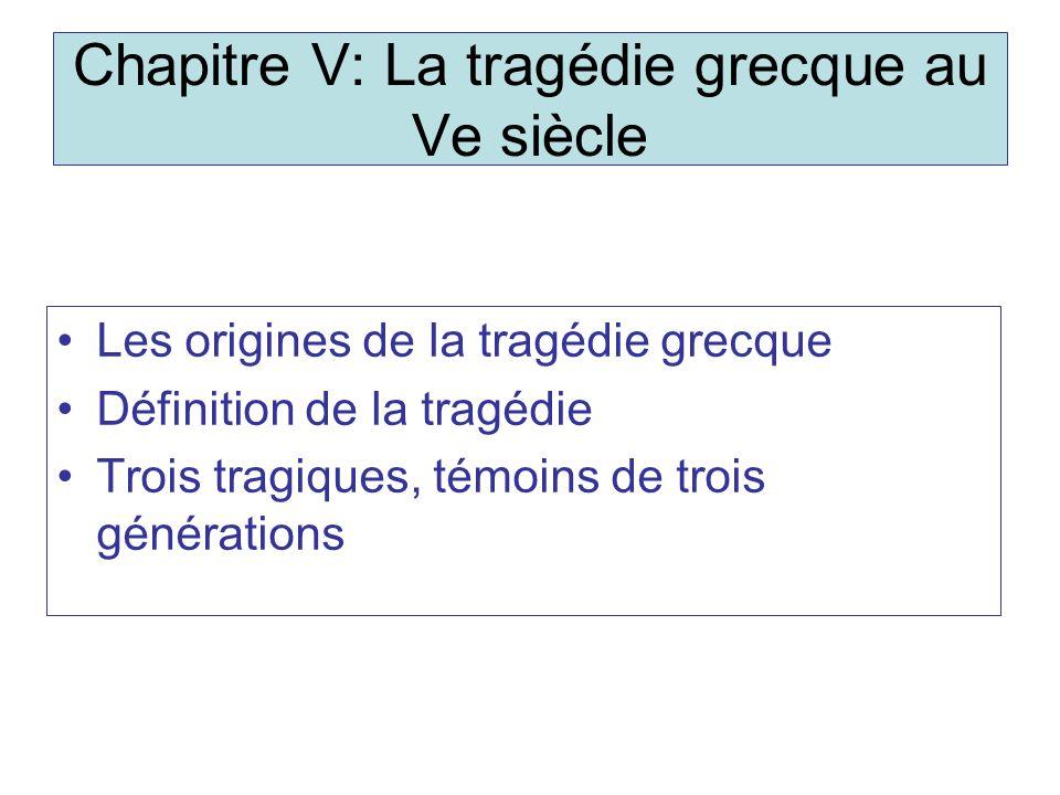 Chapitre V: La tragédie grecque au Ve siècle