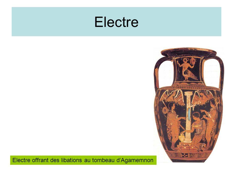 Electre Electre offrant des libations au tombeau d'Agamemnon