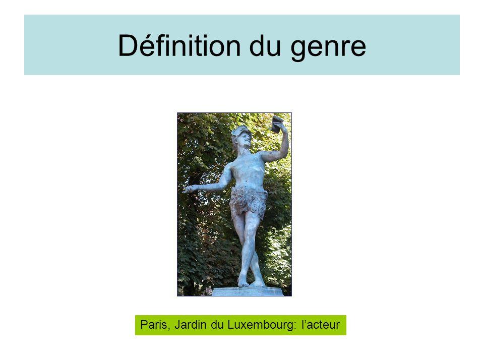 Définition du genre Paris, Jardin du Luxembourg: l'acteur