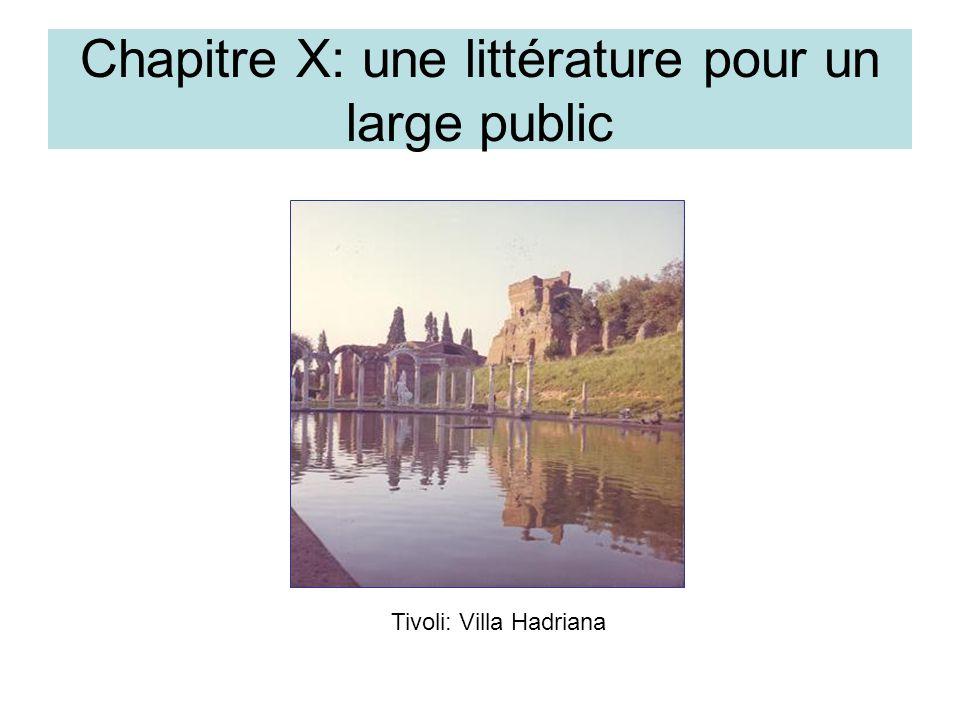 Chapitre X: une littérature pour un large public