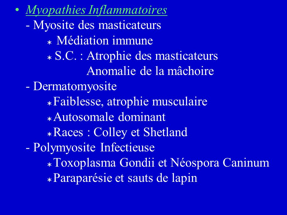 Myopathies Inflammatoires - Myosite des masticateurs