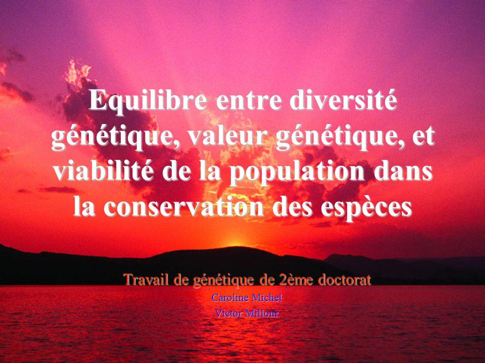 Travail de génétique de 2ème doctorat Caroline Michel Victor Millour