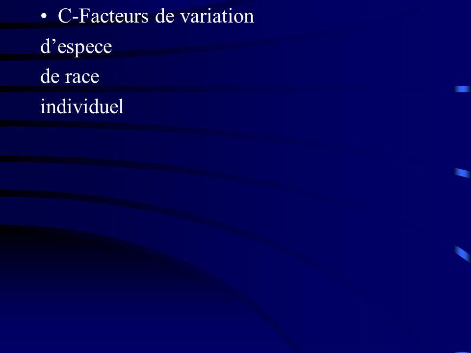 C-Facteurs de variation