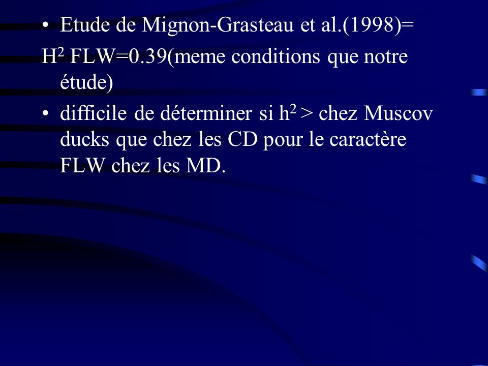 Etude de Mignon-Grasteau et al.(1998)=