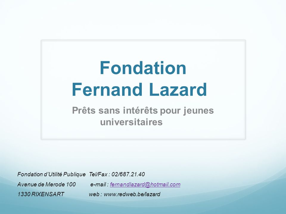 Fondation Fernand Lazard