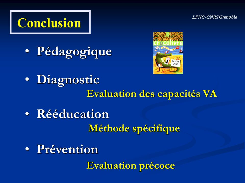 Conclusion Pédagogique Diagnostic Rééducation Prévention
