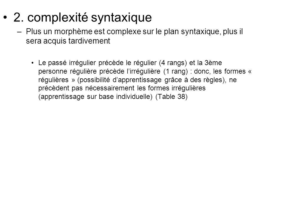 2. complexité syntaxique