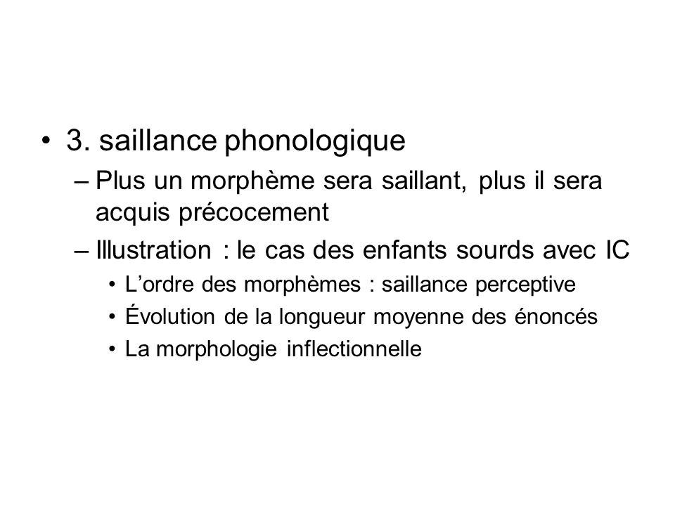 3. saillance phonologique