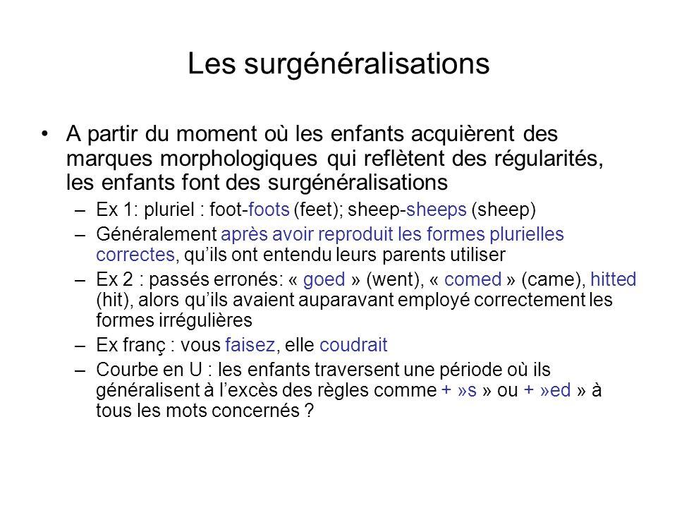 Les surgénéralisations