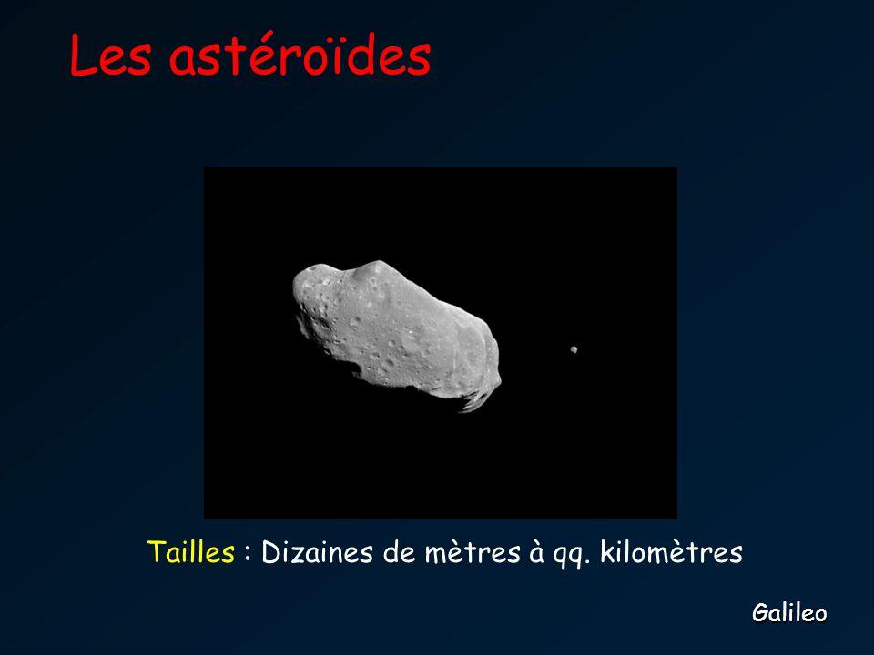 Les astéroïdes Tailles : Dizaines de mètres à qq. kilomètres Galileo