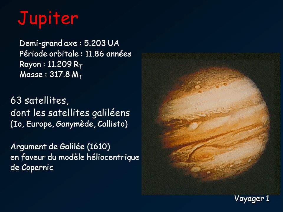 Jupiter 63 satellites, dont les satellites galiléens