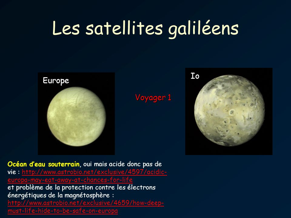 Les satellites galiléens