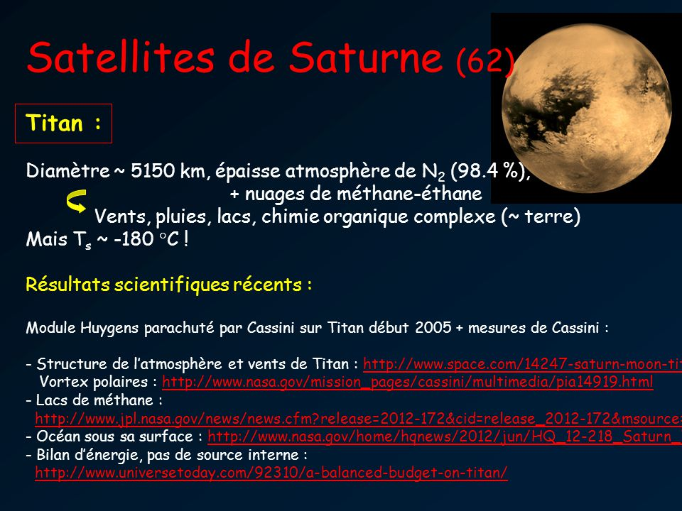 Satellites de Saturne (62)