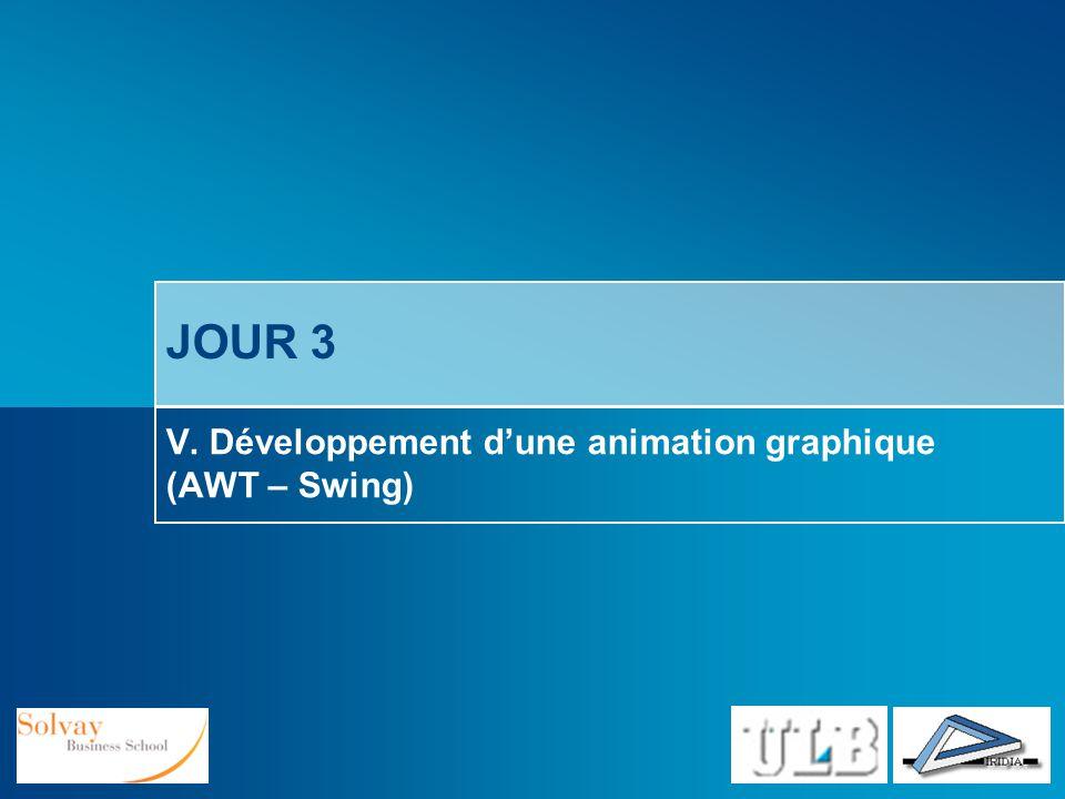 V. Développement d'une animation graphique (AWT – Swing)