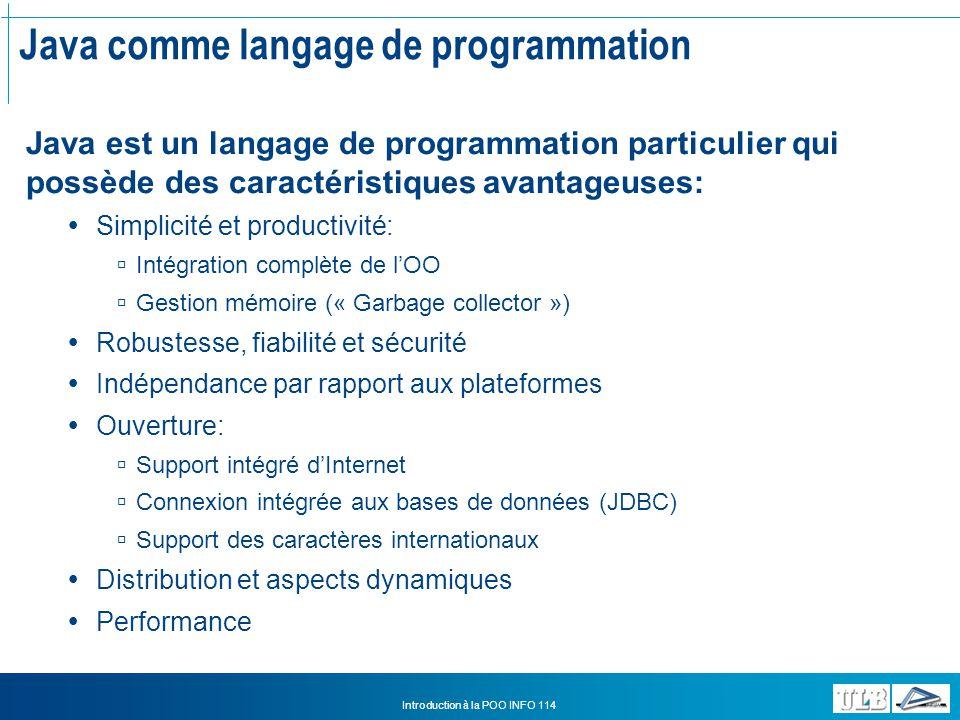 Java comme langage de programmation