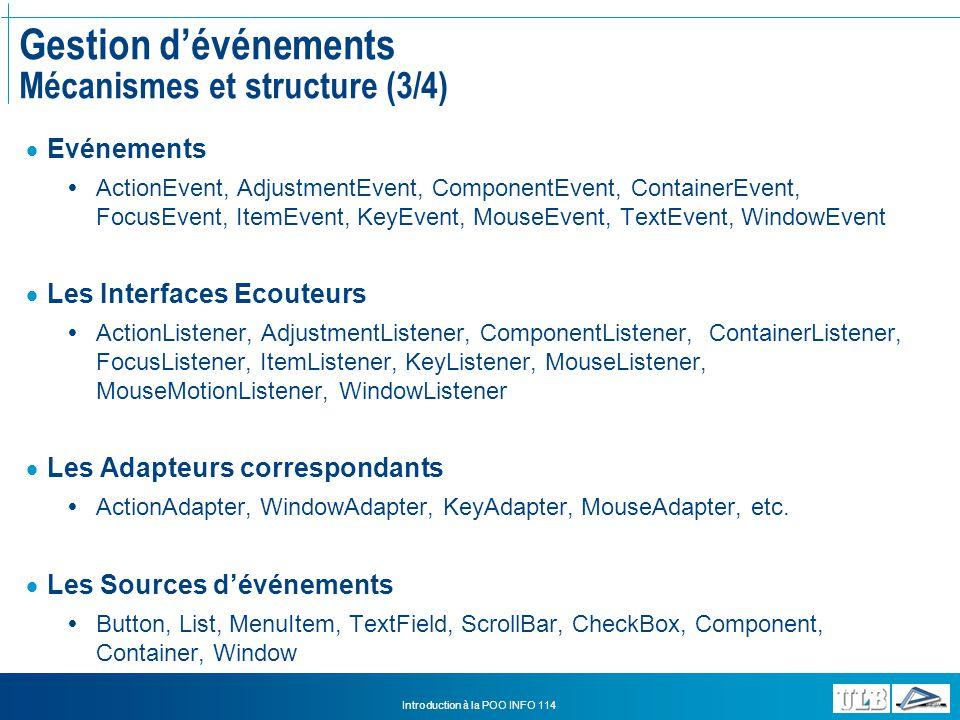 Gestion d'événements Mécanismes et structure (3/4)