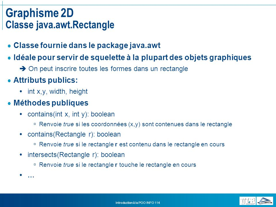 Graphisme 2D Classe java.awt.Rectangle