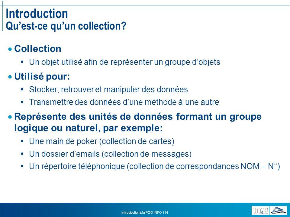 Introduction Qu'est-ce qu'un collection