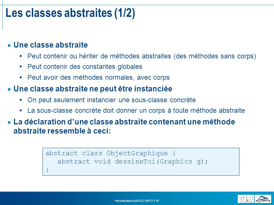 Les classes abstraites (1/2)
