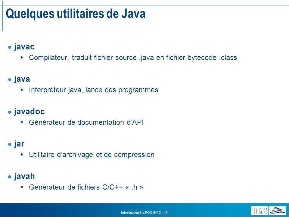 Quelques utilitaires de Java