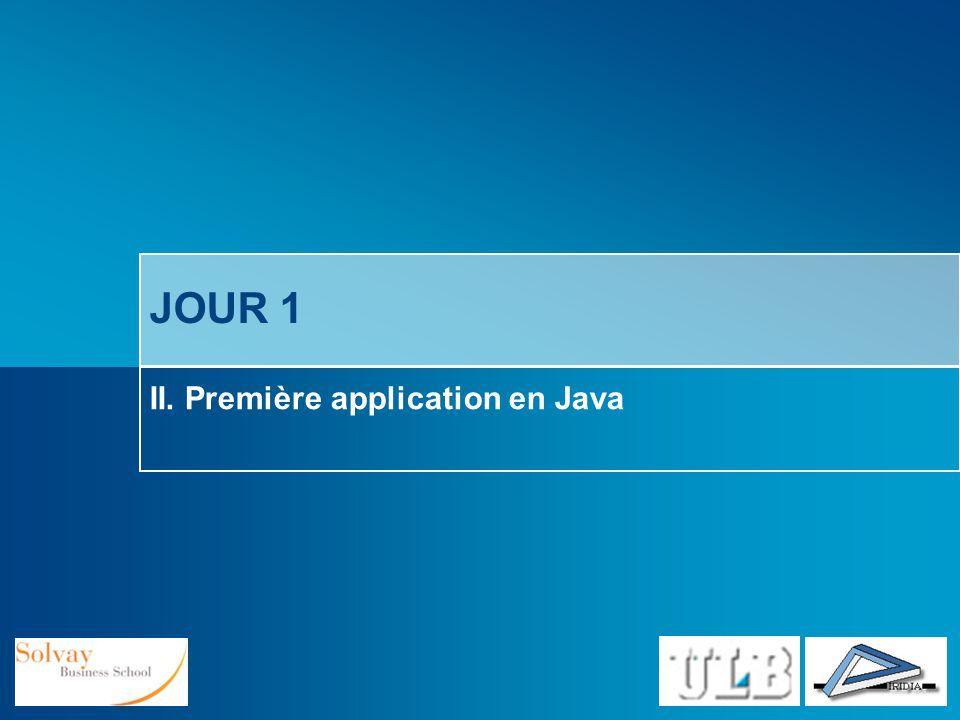 II. Première application en Java