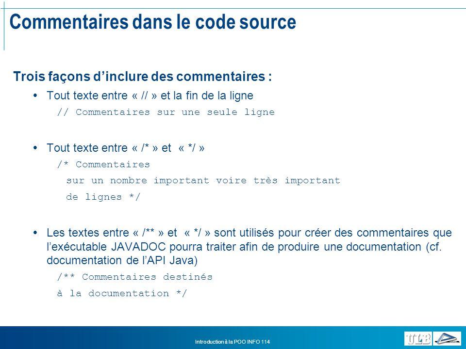 Commentaires dans le code source