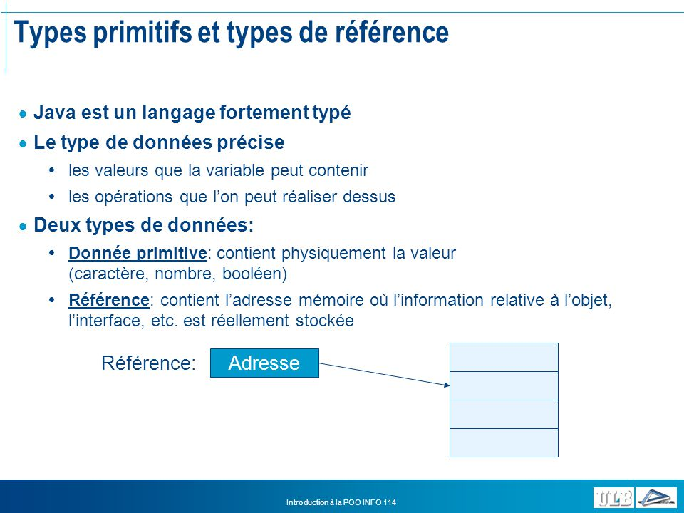 Types primitifs et types de référence