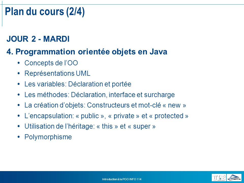 Introduction à la POO INFO 114