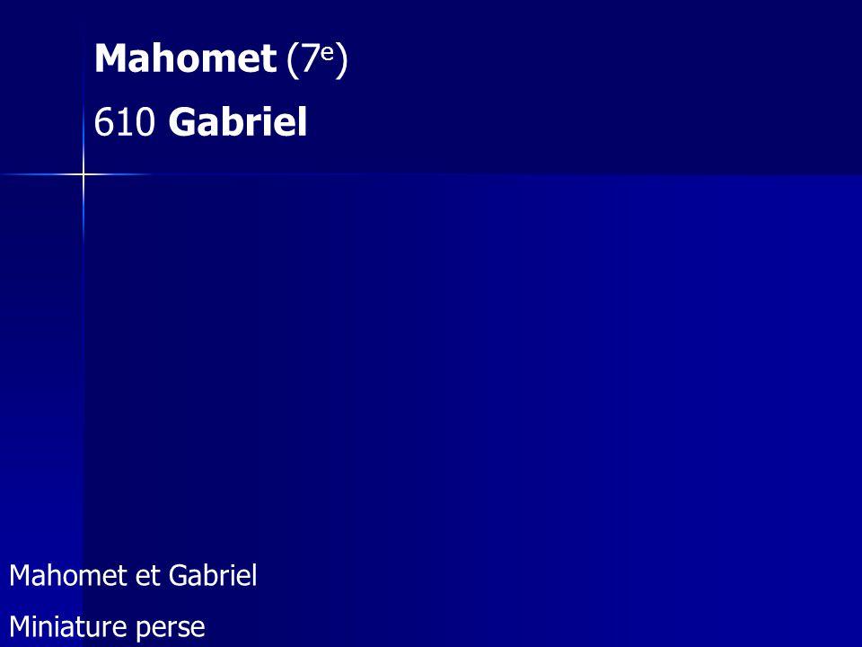 Mahomet (7e) 610 Gabriel Mahomet et Gabriel Miniature perse