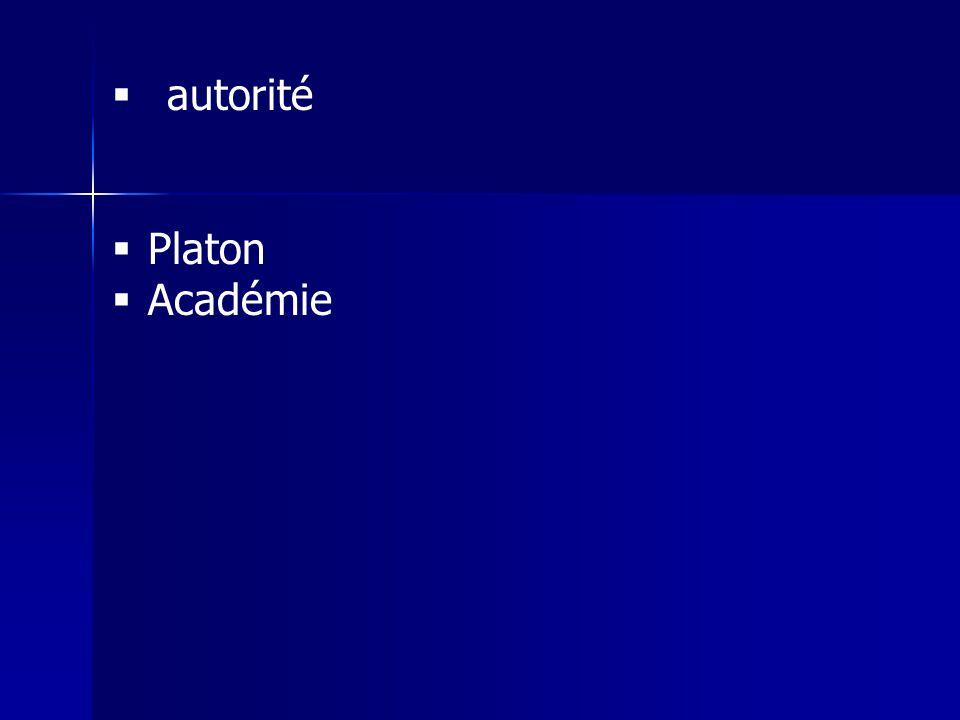 autorité Platon Académie