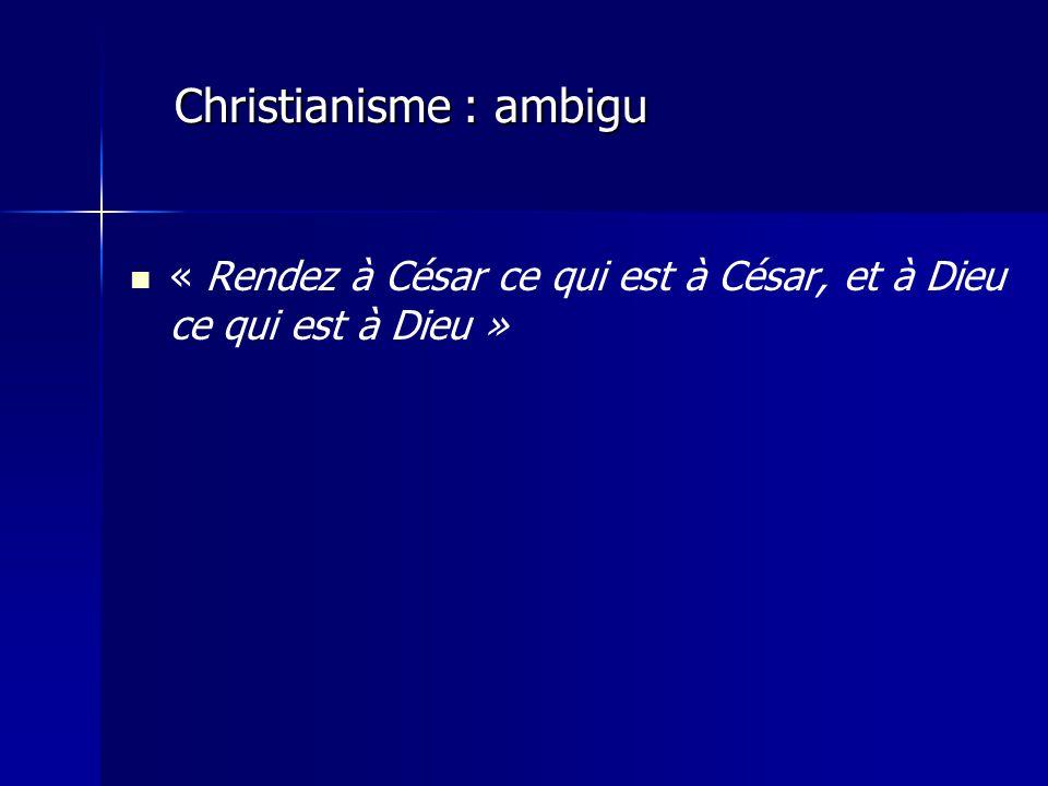 Christianisme : ambigu