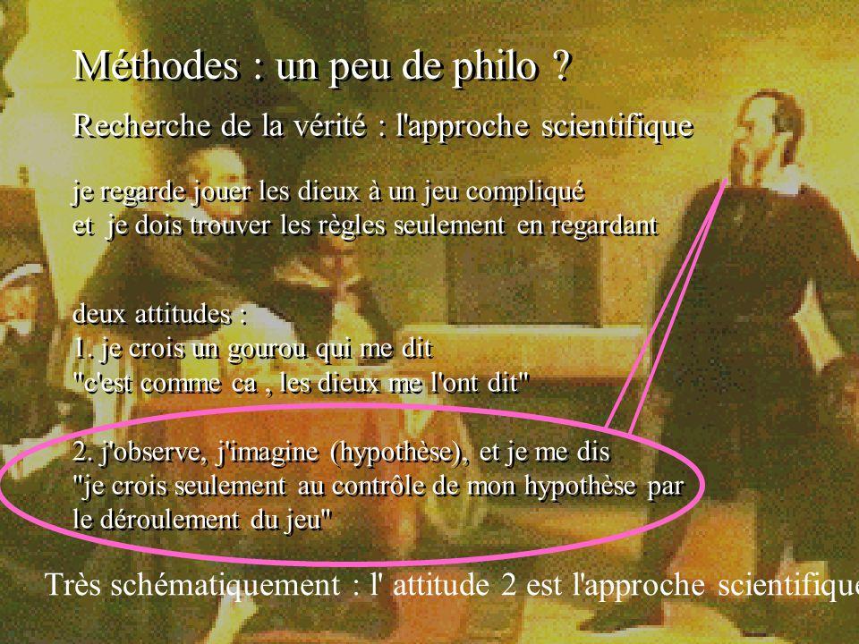 Méthodes : un peu de philo