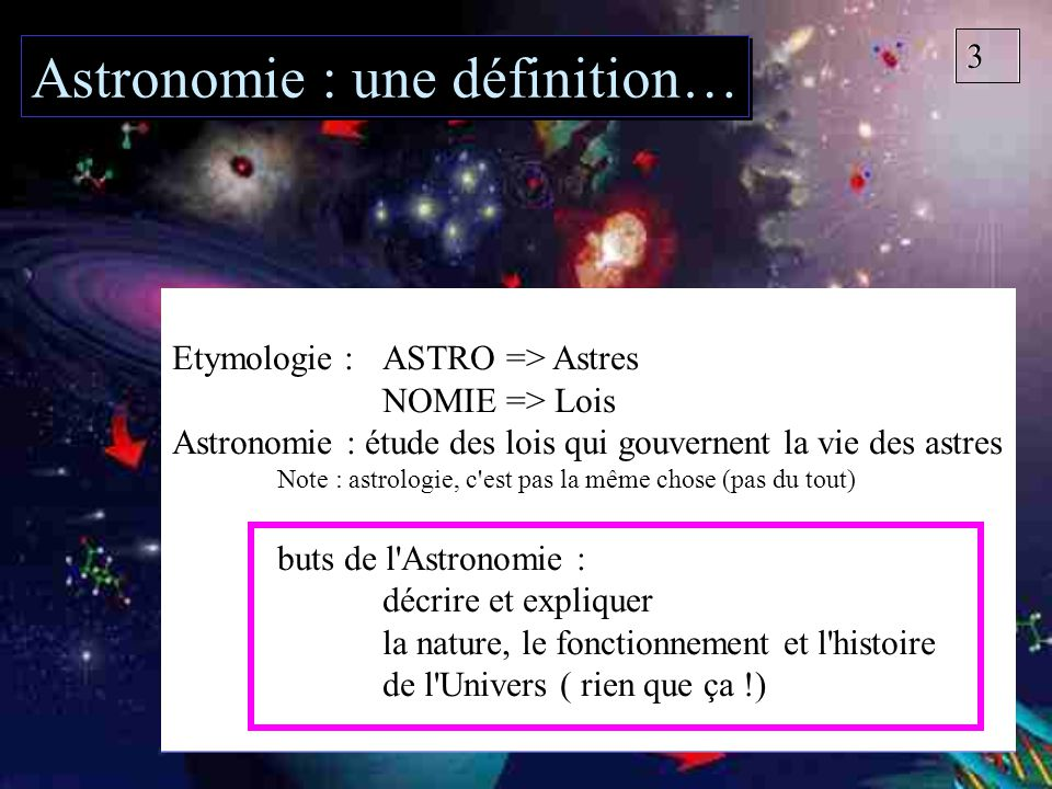 Petit panorama astronomique ballade dans le cosmos ppt t l charger - Definition d une histoire ...