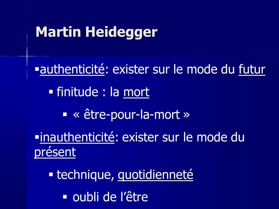 Martin Heidegger authenticité: exister sur le mode du futur