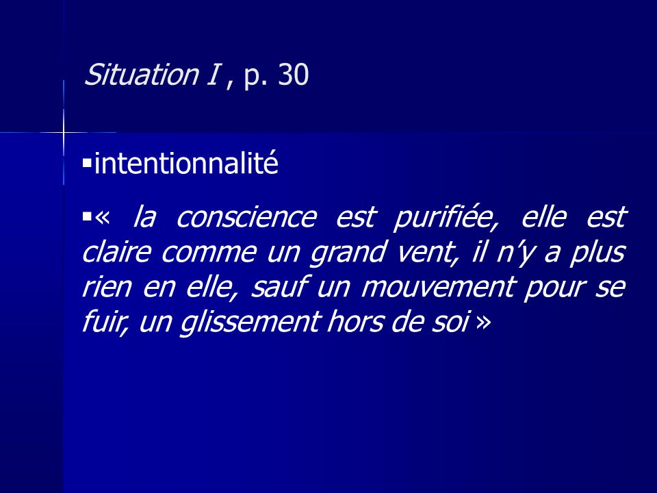 Situation I , p. 30 intentionnalité