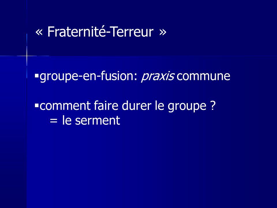 « Fraternité-Terreur »