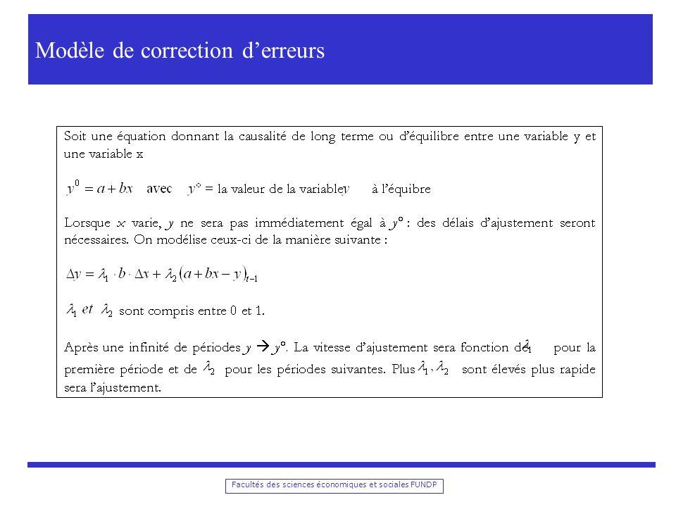 Modèle de correction d'erreurs